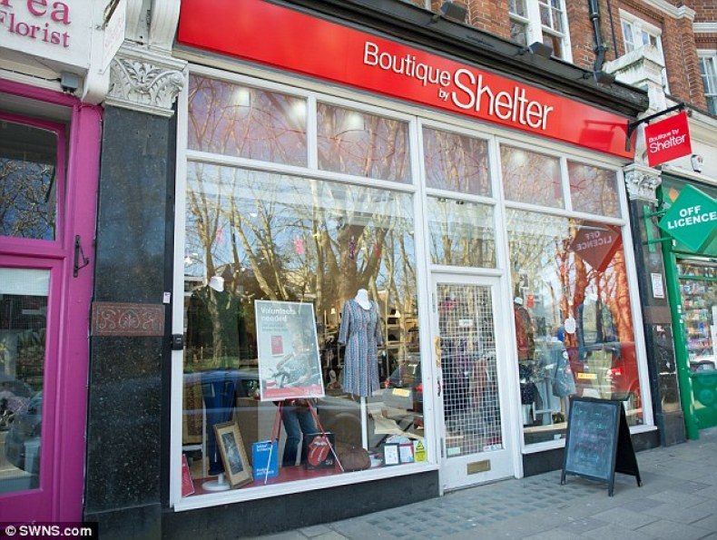 The Shelter boutique was designed in 2016 by Wayne Hemingway, as part of a project to celebrate the charity's 50th anniversary