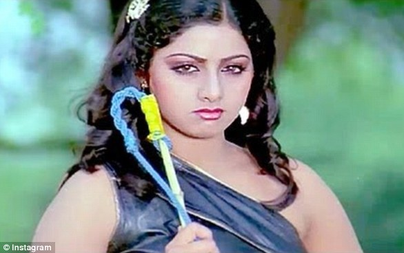 Sridevi's acting career began in 1969 at the age of four, and her big break came in 1983 with a leading role in comedy film Himmatwala (pictured)