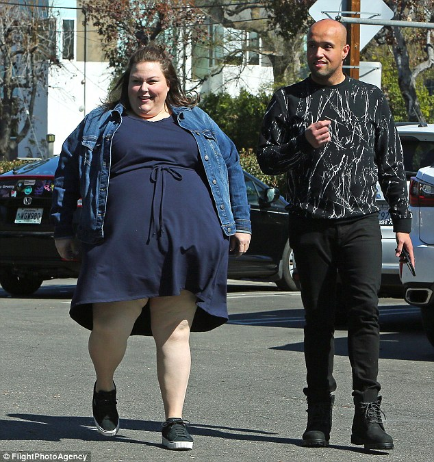 Fashionable: Chrissy Metz was spotted leaving Whole Foods grocery store in Los Angeles on Sunday; seen with a pal