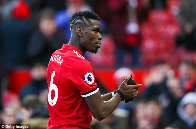 Pogba featured as United beat Chelsea 2-1 on Sunday in the Premier League
