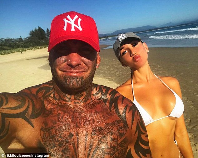 Pechey (left), who was among 18 charged over the 'Broadbeach bikie brawl', fled to Asia in the aftermath