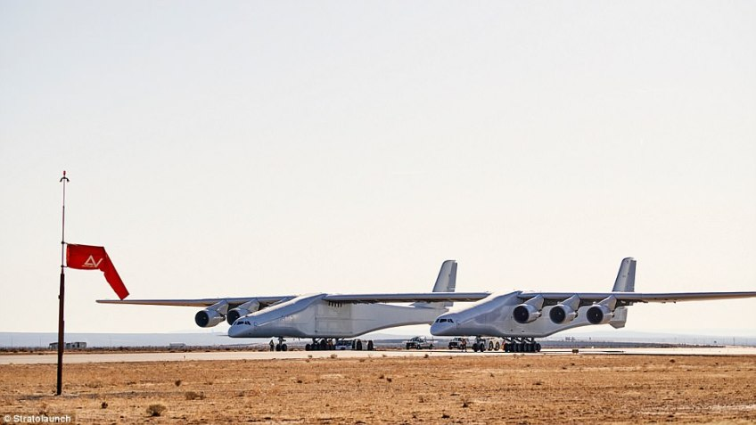 Stratolaunch has already gone through two taxi tests in the past few months, with top speeds if 28mph (41km/h) and 46mph (74km/h).The plane still has to go through three more taxi tests before it can fly, the company said