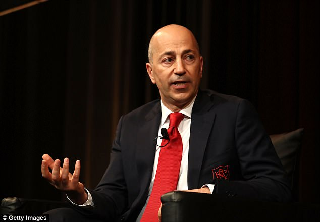 Chief executive officer Ivan Gazidis is tasked with the day-to-day running of the club
