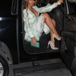 Beyonce in £2257.56 Zimmermann Floral Dress