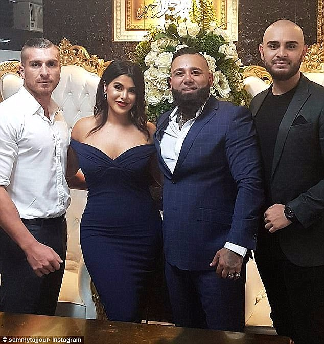 Tajjour's accounts were closed just two months after he married the second youngest Mehajer sibling in a lavish Boxing Day wedding (pictured)