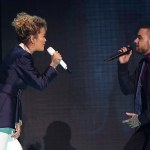 Rita Ora and Liam Payne perform at the Global Awards