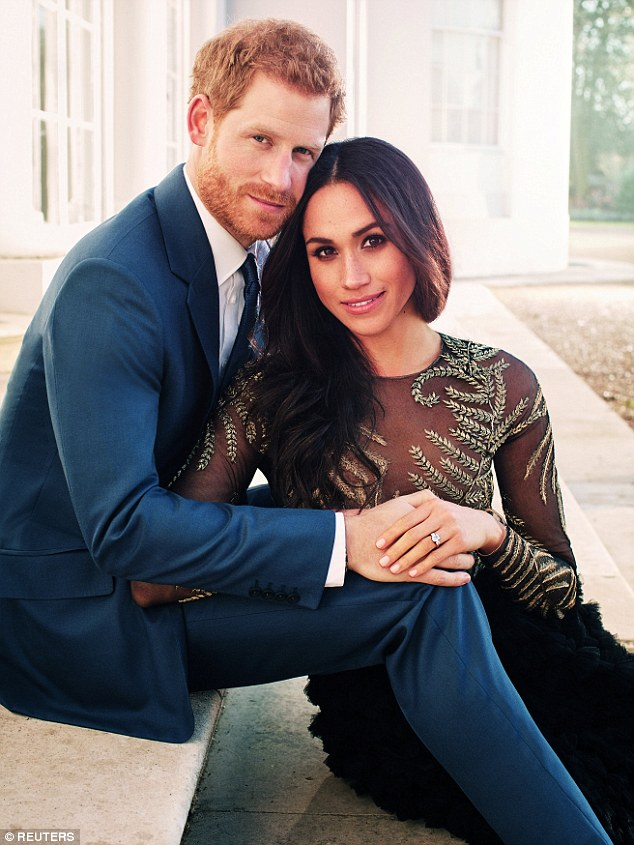 Meghan raised eyebrows when she wore a £56,000 dress by Ralph and Russo gown (pictured) for her engagement shoot with Prince Harry
