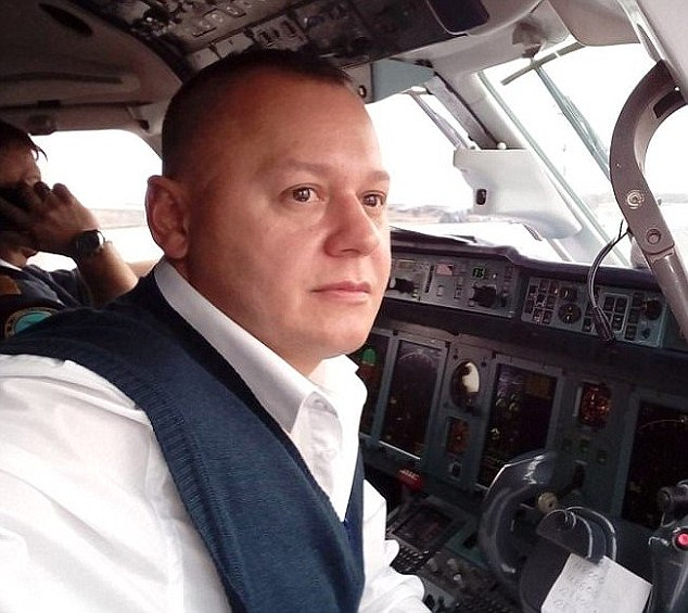 Gubanov told his co-pilot Sergei Gambaryan (pictured) to gain altitude instead of tilting the plane downwards as they scrambled to prevent the tragedy