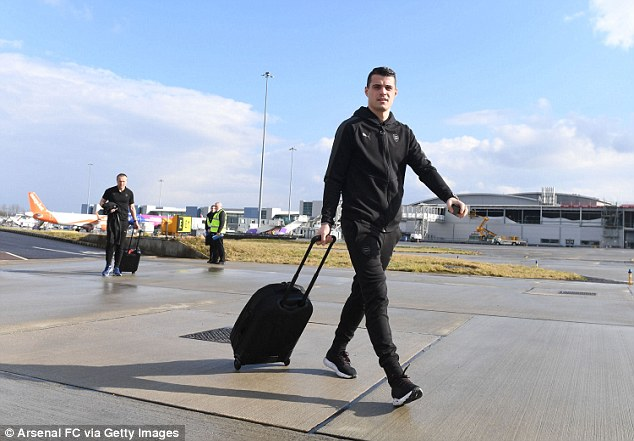 Granit Xhaka and Co will face AC Milan on Thursday having lost their last four fixtures