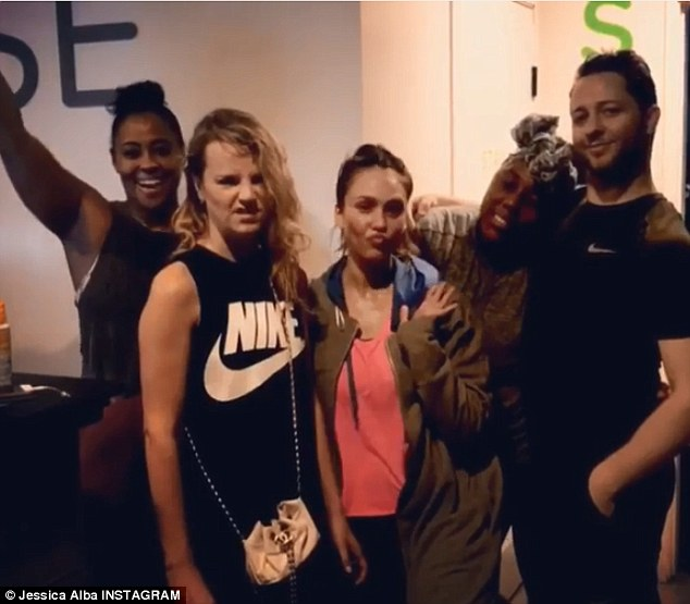 'Man it was hard, but oh so good': The actress shared two group photos after her last workout man it was hard, but oh so good