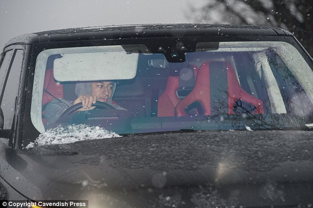 Jesse Lingard drove himself into the training ground in his black Range Rover on Thursday