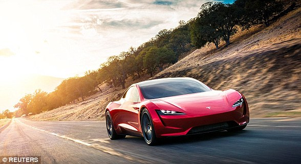 The electric supercar market has ramped up in recent years, with several companies - many of them small startups - vying to build the quickest. Pictured is Tesla's next generation Roadster, due for release in 2020