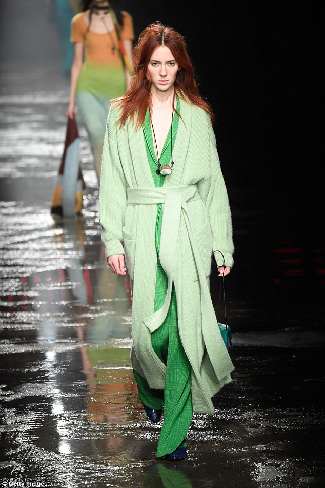 Complicit: The catwalk queen who has walked for the likes ofGucci and Marc Jacobs said the industry is complicit because it tries to silence models from speaking out about abuse