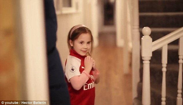 Bellerin put out an appeal to find Claudia, who held a banner at Arsenal's win at Crystal Palace