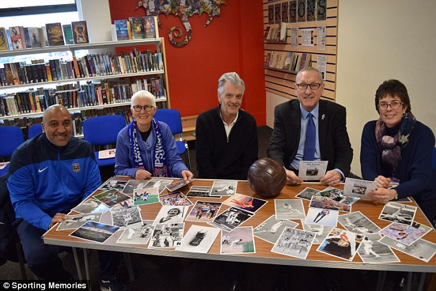 England legend Terry Butcher (second right) at the Sporting Memories event in Lowestoft