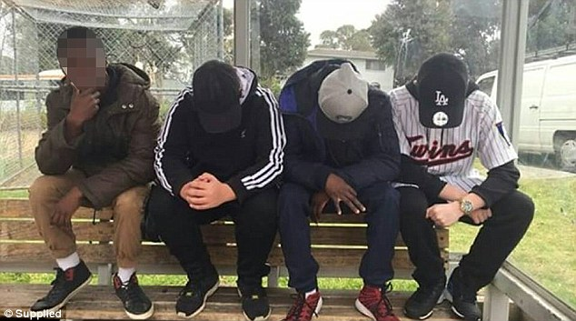 Police have ramped up patrols in the City of Casey area of Melbourne's south eastern suburbs (pictured are local youths)