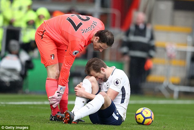 Mauricio Pochettino confirmed it was Kane's troublesome right ankle that was damaged