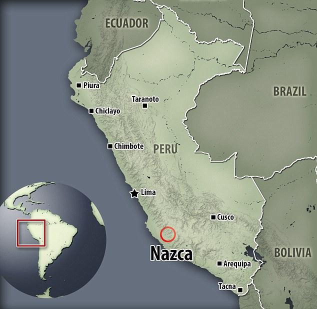 Um grupo de autoproclamados pesquisadores paranormais afirmam ter encontrado provas de alienígenas perto da antiga cidade de Nazca, no Peru.