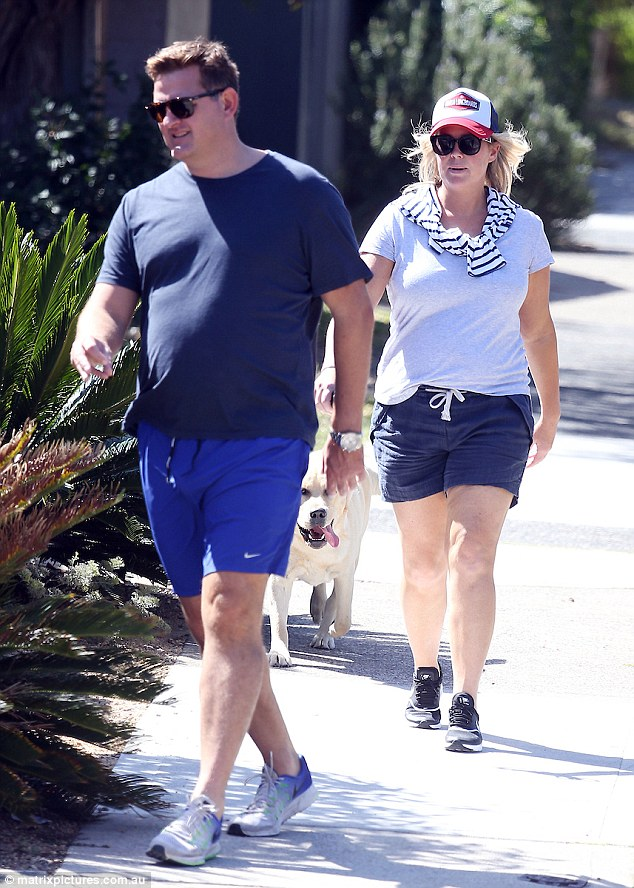 Out and about: The pair seemingly kept up a brisk pace as they stepped out in Sydney