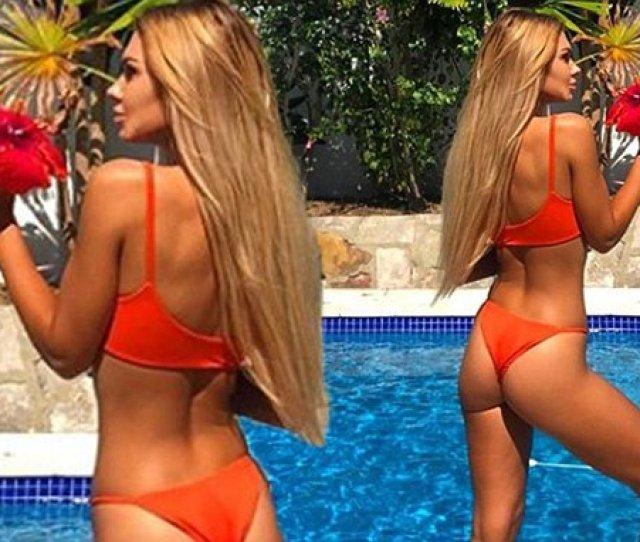 Kiki Morris Shows Off Peachy Posterior In Thong Bikini Daily Mail Online