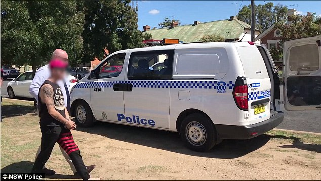 Footage released by New South Wales Police showed the moments four properties were raided