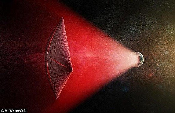 Fast radio bursts were first 'heard' by radio telescopes back in 2007, and are thought to come from distant galaxies. But, scientists have yet to pinpoint the source, and many have suggested they could be a sign of extraterrestrial life (artist's impression)