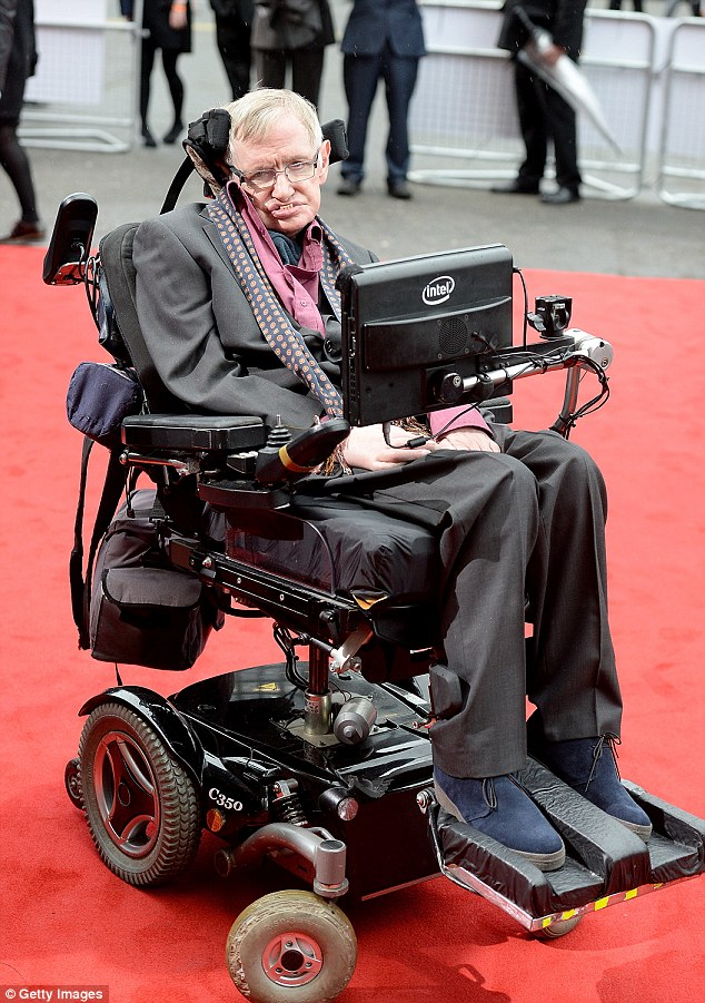 Professor Stephen Hawking (pictured in 2015) died  more than 50 years after being diagnosed with motor neurone disease