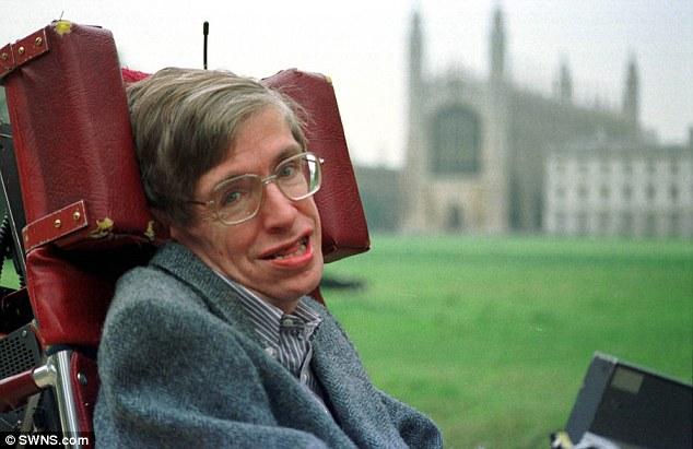 Professor Stephen Hawking was the Lucasian Professor of Mathematics at Cambridge University (pictured in 2000)
