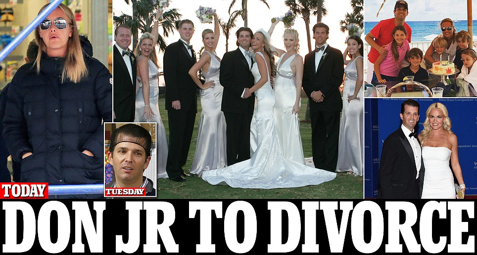 Donald Trump Jr and wife Vanessa expected to file for divorce