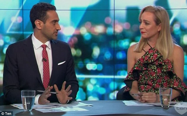 'As a parent, you know how terrifying bullying is': Waleed, who is also a father-of-two, took over from an emotional Carrie, and said while the issue may be a confronting to tackle, it was important conversations about bullying were had by all members of the community