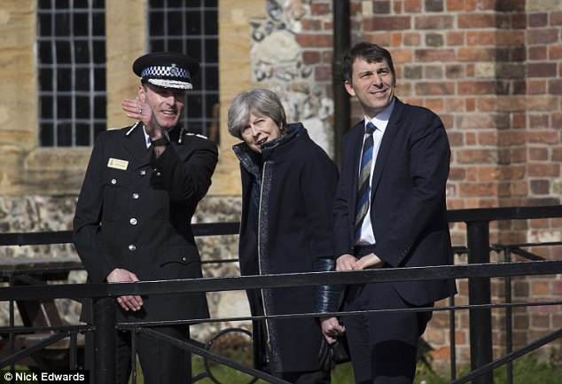 Mrs May was today shown the area in Salisbury near where the nerve gas was deployed
