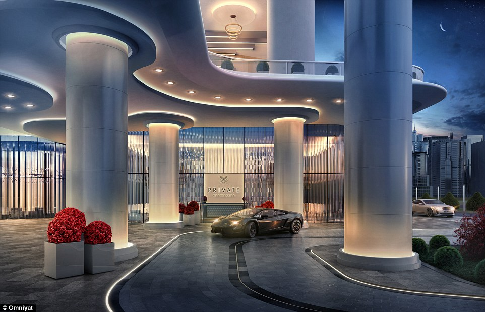 The building will also house a number of private residential complexes, which are set to attract high flyers