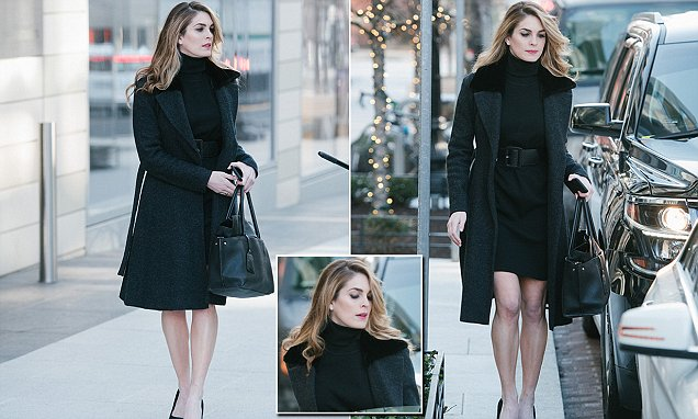 Hope Hicks bundles up in black but bares her legs for Trump return  Daily Mail Online