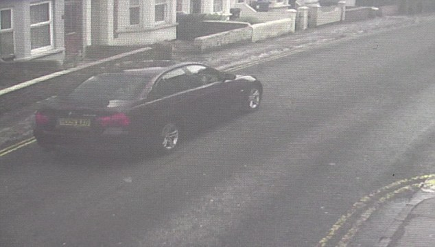 Skripal's maroon BMW is at the heart of the poison probe (pictured on CCTV) but sources have also said the nerve agent may have been smuggled into Britain in Yulia's suitcase