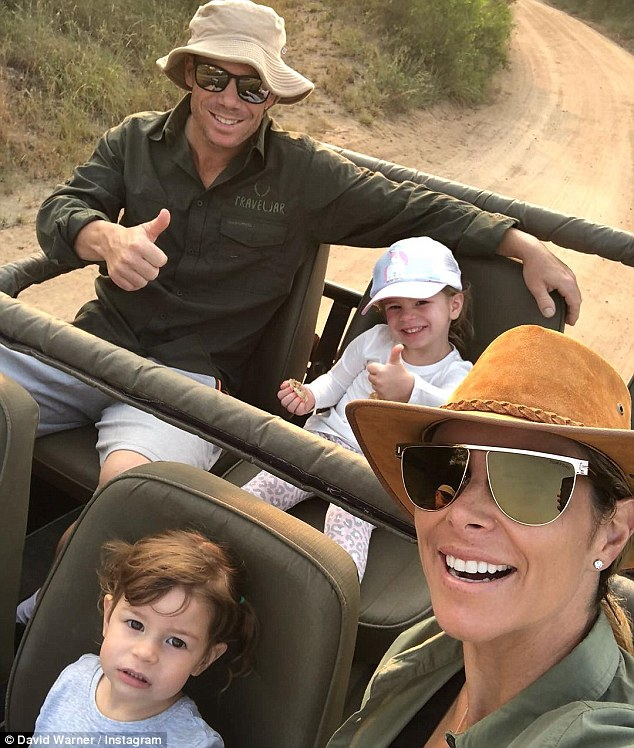The Warners visited the Sabi Sabi reserve after it emerged they were staying in the same hotel as Sonny Bill Williams