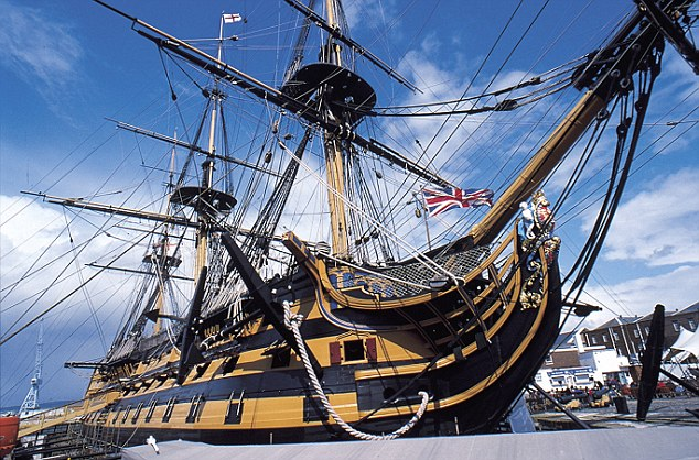 The HMS Victory was Admiral Nelson's flagship in the Battle of Trafalgar and Nelson's wife is said to have regularly visited him during his time as vice-admiral