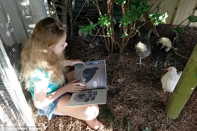 Chickens to Love was founded in 2017 by Summer and mum Cynthia, after a blind pet chicken helped the young girl through a tough time