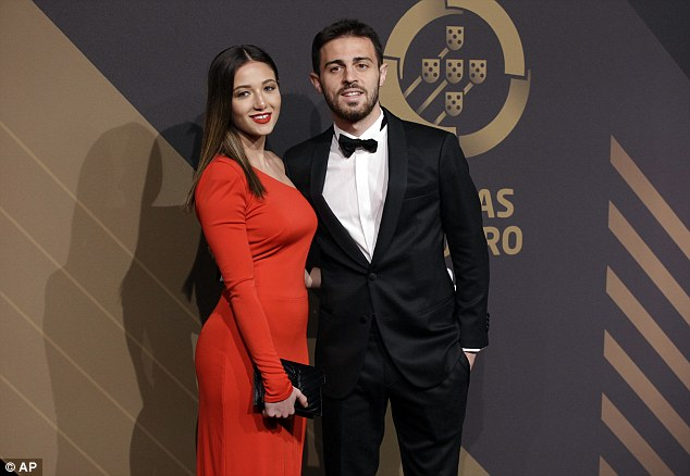 Ronaldo won best player, beating Manchester City playmaker Bernardo Silva (above)