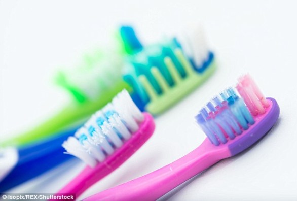 The ugly tooth: Unsurprisingly, nearly 70 per cent of us have visible plaque — a build-up of bacteria and debris which is a chief cause of tooth decay