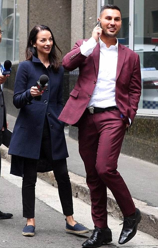 Mehajer was last month found guilty of assault occasioning bodily harm against TV reporter Laura Banks (left) outside a Sydney police station last year