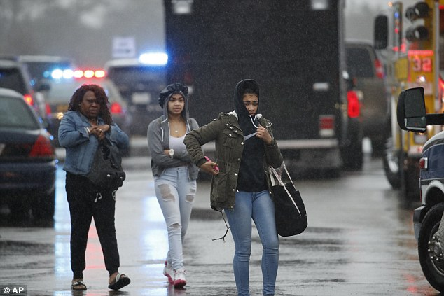 Many of the students who were picked up by their parents after the shooting today said they were afraid to go back to the school after what happened