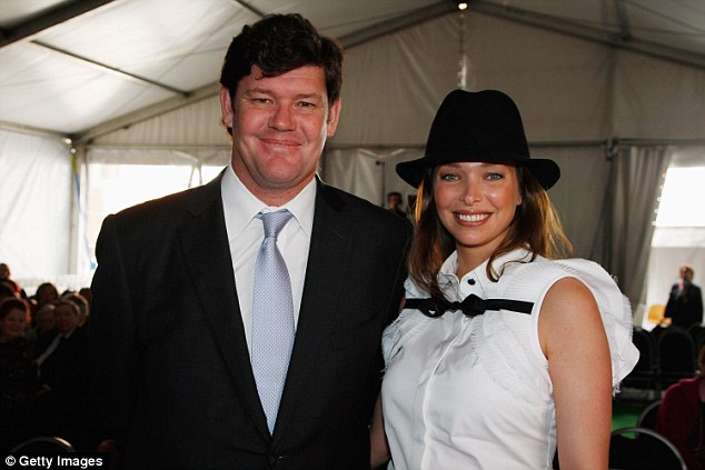 James Packer and second wife Erica Baxter (both pictured) have two daughters and one son