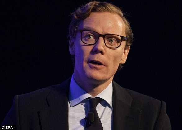 The data company suspended its CEO, Alexander Nix (pictured) after footage in which he made a series of controversial claims, including the claim that Cambridge Analytica played a pivotal role in Donald Trump's election
