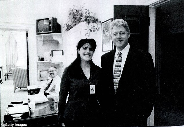 Penn says the open marriage was open marriage was possibly 'not by choice' - but does not go so far to reference Clinton's affair with Monica Lewinsky, which occurred when he was president and she was a White House intern in the 1990s
