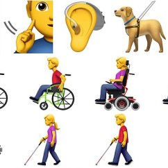 Wheelchair Emoji Indoor Hanging Hammock Chair Apple Proposes 13 New Characters For People With Disabilities