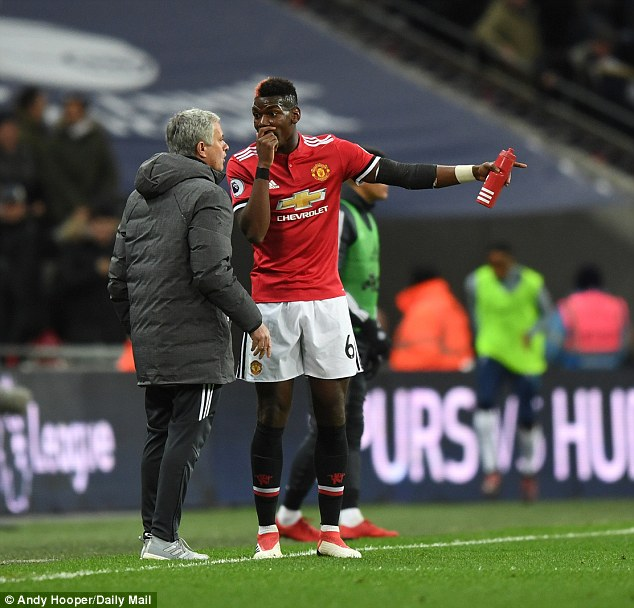 The United boss (left) has been involved in a rift with star man Paul Pogba recently