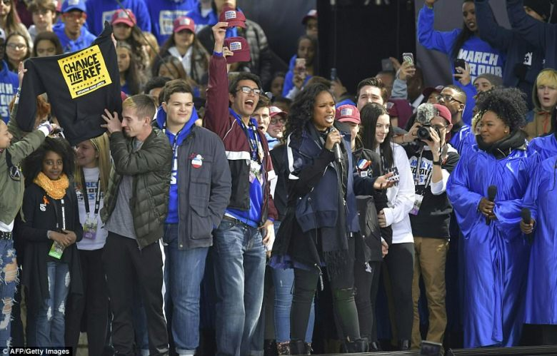 The March For Our Lives in Washington DC on Saturday concluded with a performance from Jennifer Hudson who, afterwards, was joined on the stage by the 20 young speakers from the event. They included Parkland school shooting survivors