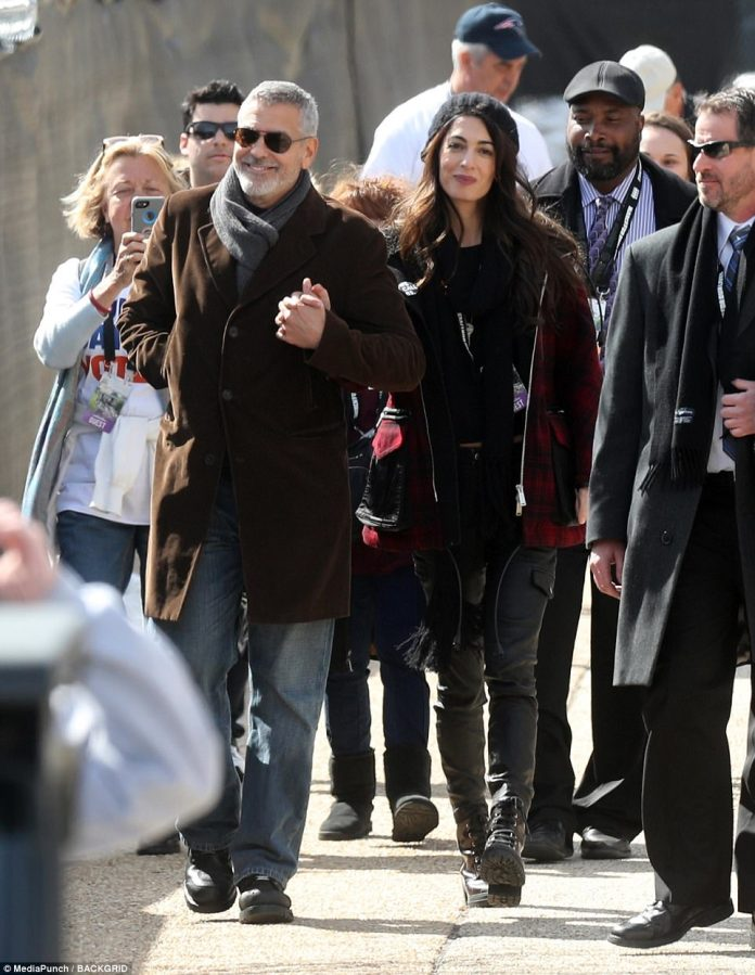 George and Amal Clooney beamed at the Washington DC March For Our Lives protest. The activist couple donated $500,000