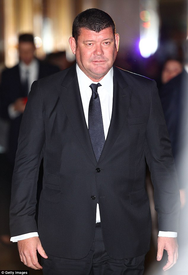 James Packer (pictured) checked into an exclusive mental health facility in Boston on Thursday night after sensationally quitting as director of Crown Resorts