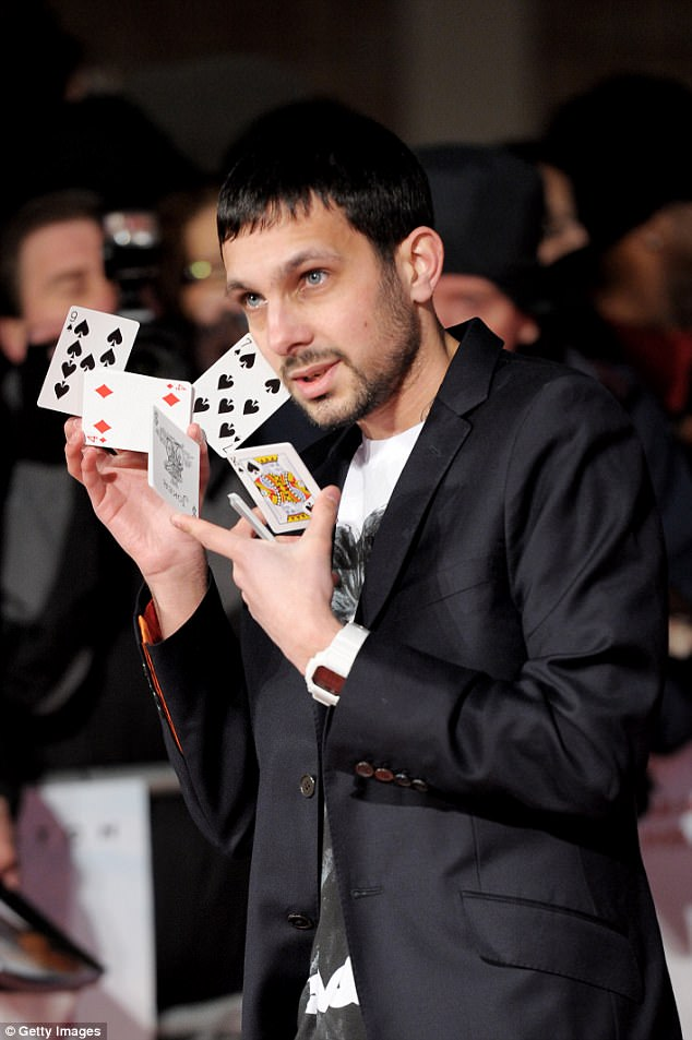 The magician as he looked before the swelling after following a strict diet which bans gluten, dairy and vegetables